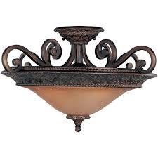 3 Bulb Flush Mount Ceiling Light Fixture by World Imports Luray 1 Light Oil Rubbed Bronze Semi Flush Mount