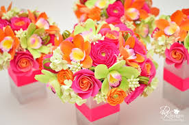 wedding flowers jamaica pink orange and green flowers for a destination wedding in
