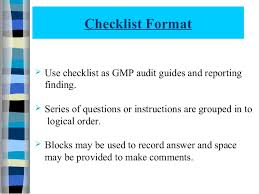 gmp audit report template quality audit 112070804012