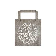 vector eco bag mockup template with lettering element isolated