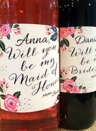 will you be my bridesmaid wine labels bridesmaid wine labels will you be my bridesmaid gift ideas