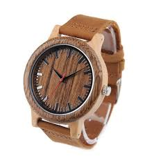 bracelet homme montre images Montre en bois bracelet cuir pour homme kokanboi jpg