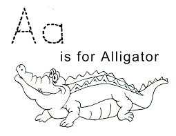 coloring pages fabulous alligator color page letter a is for