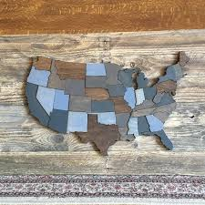 wooden united states wall united states map wood cutout with states highlighted