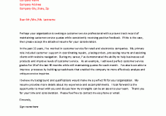 download samples of customer service cover letters