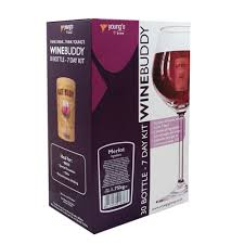 wine bottle emoji youngs wine buddy merlot wine kit makes 30 bottles at wilko com