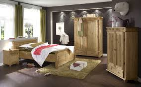 traditional pine bedroom furniture set in a room with tile wood