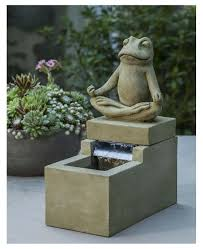 mini zen frog fountain frogs fountain and cast stone