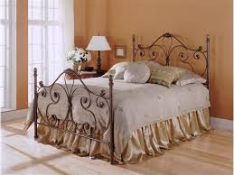 Wood And Wrought Iron Headboards Lovable Metal Headboard And Footboard Best Images About Wood Metal