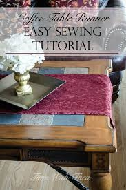 How To Make A Sewing Table by Coffee Table Runner Easy Sewing Tutorial Time With Thea