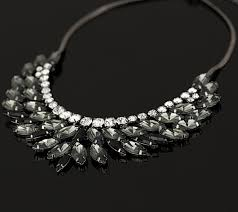 crystal necklace statement images Smokey gray and crystal statement necklace foxy lady jewelry png