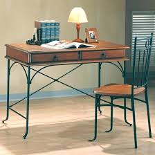 wood and metal writing desk metal writing desk naderve info