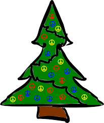 xmas tree christmas peace symbol sign coloring book colouring
