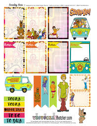 scooby doo thanksgiving free scooby doo planner stickers from victoria thatcher planners