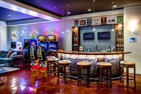 amazing maroon cool game rooms basements basement room bars