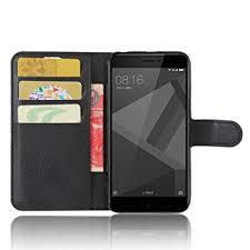 SMTR Xiaomi Redmi 4x Premium Leather Wallet case Cover Amazon