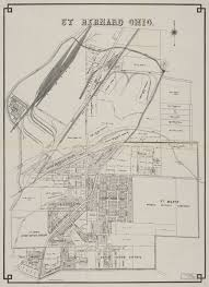 Map Of The Erie Canal Map From 1914 Showing The Miami And Erie Canal Running Through St