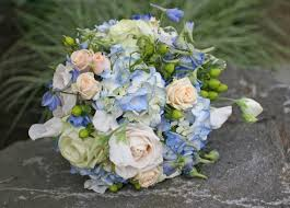 hydrangea wedding bouquet blue and white wedding bouquets bb0577 blue hydrangea chagne