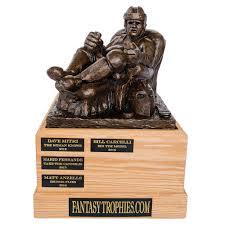 Armchair Quarterback Trophy Fantasy Football Trophies Handmade In Brooklyn