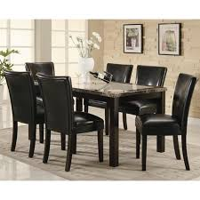 chair coaster 102260 brown marble dining table and chair set steal