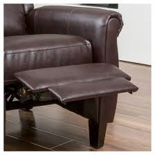 haddan pu leather recliner club chair burgundy brown christopher