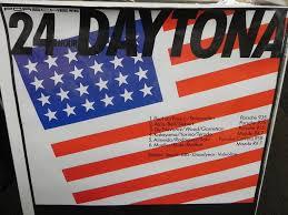 6 Flags Hours Original 24 Hours Of Daytona Poster Aase Sales Porsche Parts Center