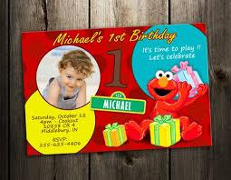 elmo birthday party invitation digital file printable photo