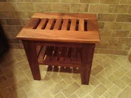 teak shower bench by skylark53 lumberjocks com woodworking