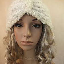 infinity headband blue cable knit hooded scarf merino from 2handmade on etsy