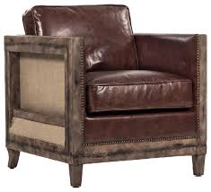 beck industrial rustic lodge masculine square frame brown leather