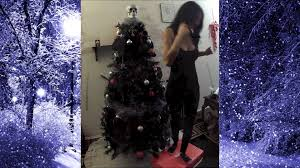 Diy Christmas Tree Decorations Youtube Gothic Christmas Tree Decorating Video Youtube