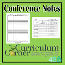 conferencing forms for reading workshop the curriculum corner 4 5 6