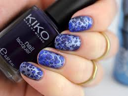 water spotted nail art feat model u0027s own chrome indigo by