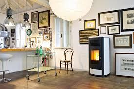 servierwagen küche industrial look mit futuristischem kamin stuhl bar couchstyle