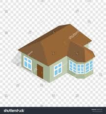 one storey house veranda isometric icon stock vector 594635387