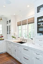 satin nickel white kitchen love everything about this love the mission style cabinet look simple also the brushed nickel