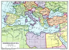 Map Mediterranean Map Of The Mediterranean Sea From 1926 Keep Following To See How