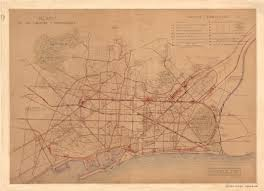 Map Of Barcelona Map Of The Trams And Trains Of Barcelona In 1905 Full Size