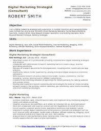 digital marketing resume digital marketing strategist resume sles qwikresume