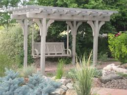 build arbor swing with trellis top u2013 outdoor decorations