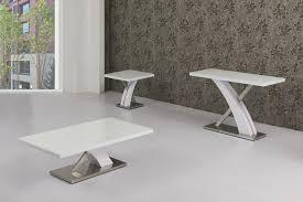 High Gloss Side Table White High Gloss Glass Lamp Table Homegenies