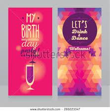 invitation birthday party geometric background vector stock vector