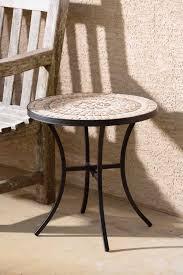 Ceramic Side Table Alfresco Home Boracay Wrought Iron 20 Round Ceramic Mosaic Outdoor