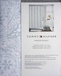 Paisley Shower Curtain Blue by Amazon Com Tommy Hilfiger Fabric Shower Curtain Gray Light Blue