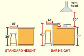 what is the height of a kitchen island standard kitchen island height standard kitchen island bench