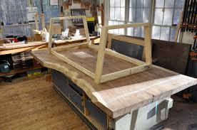 Walnut Slab Table Dorset Custom Furniture A Woodworkers Photo Journal Another