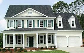 center colonial house plans colonial with attached garage home exteriors
