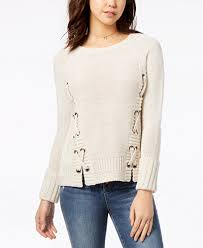 sweaters macys rag juniors lace up sweater created for macy s