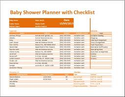 Event Planning Checklist Template Excel Kt S Baby Shower Planner With Checklist Template Word Excel