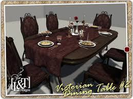 Best Dining Table Accessories Second Life Marketplace L U0026t Victorian Dining Table 2 Full